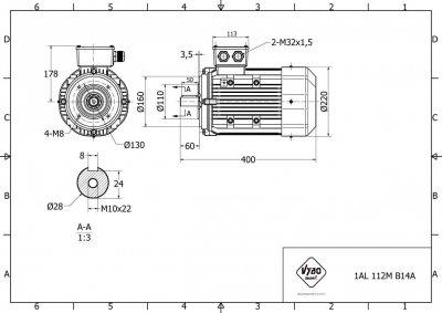 výkres 1AL-112M-B14A