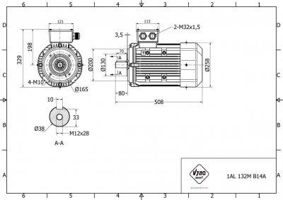 výkres 1AL-132M-B14A