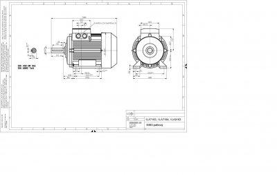 vykres prirubovy elektromotor Siemens 160 kw