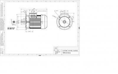 vykres prirubovy elektromotor Siemens 22 kW