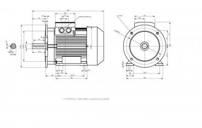 vykres prirubovy elektromotor Siemens sirka