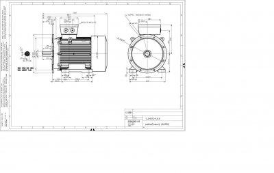 vykres 110 kw IMB35 patkovo prirubovy elektromotor rozmery