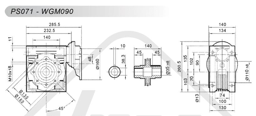 schémy zapojenia čelná medziprevodovka PS071