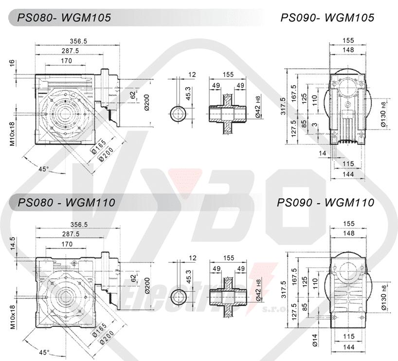 schémy zapojena čelná medziprevodovka PS080