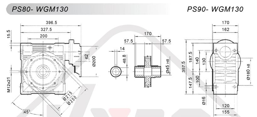 schémy zapojenia čelná medziprevodovka PS080